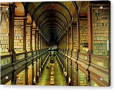 Gallery Of The Old Library, Trinity Acrylic Print