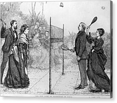 Game Of Badminton Acrylic Print