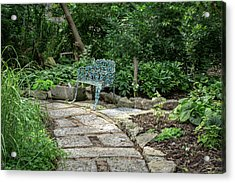 Acrylic Print featuring the photograph Garden Bench by Dale Kincaid