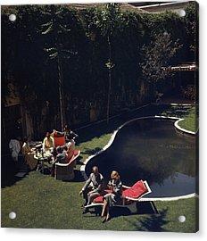 Garden In Madrid Acrylic Print