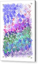 Garden Of Purple And Green Acrylic Print