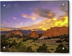 Garden Of The Gods Sunset Nd Acrylic Print