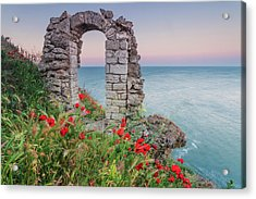 Gate In The Poppies Acrylic Print