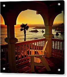 Gazebo View Of Central California Coast Acrylic Print