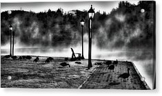 Geese In The Mist Acrylic Print