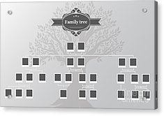 Genealogical Tree Of Your Family.hand Acrylic Print