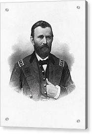 General Grant Engraved Portrait Acrylic Print