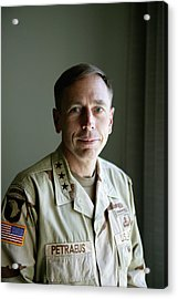 General Petraeus Charged With Acrylic Print by Brent Stirton