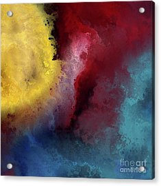 Acrylic Print featuring the painting Genesis 1 3. Let There Be Light by Mark Lawrence