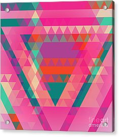 Geometric Colorful Abstract Background Acrylic Print