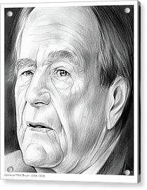 George Hw Bush 1924 - 2018 Acrylic Print