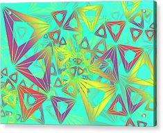 Acrylic Print featuring the digital art Geovirt by Vitaly Mishurovsky