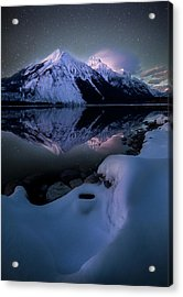 Ghost In The Darkness / Lake Mcdonald, Glacier National Park  Acrylic Print