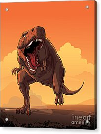 Giant Prehistoric Monster Of Dinosaur Acrylic Print