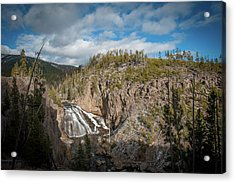 Acrylic Print featuring the photograph Gibbon Falls In Yellowstone by Mark Duehmig