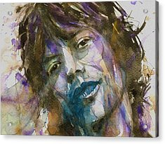 Gimme Shelter - Mick Jagger - Resize Crop  Acrylic Print