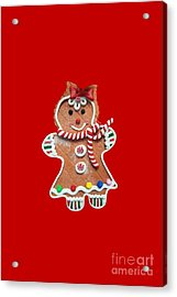 Acrylic Print featuring the photograph Gingerbread Cookie Girl by Rachel Hannah