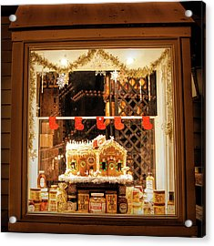 Acrylic Print featuring the photograph Gingerbread Holiday Window by Kristia Adams