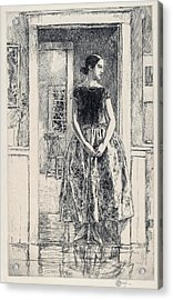 Girl In A Modern Gown - Digital Remastered Edition Acrylic Print