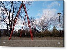 Girl On Swing Acrylic Print