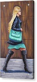 Girl Walking Acrylic Print