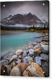 Acrylic Print featuring the photograph Glacial Waters / Banff, Canada  by Nicholas Parker