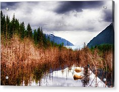 Acrylic Print featuring the photograph Glacial Waters by Dee Browning