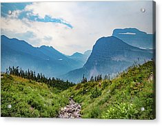 Acrylic Print featuring the photograph Glacier Canyon Vista by Lon Dittrick