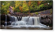 Glade Creek Grist Mill And Cascade Acrylic Print