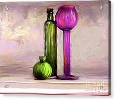 Glass On Glass Acrylic Print