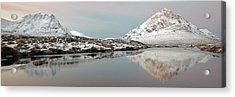 Acrylic Print featuring the photograph Glencoe Snow Mountain Winter Sunrise by Grant Glendinning