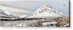 Acrylic Print featuring the photograph Glencoe Snowy Morning by Grant Glendinning
