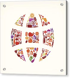 Globe Food & Drink Royalty Free Vector Acrylic Print