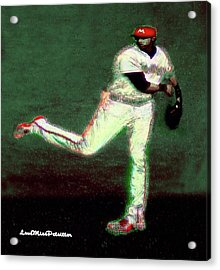 Go Yelich Baseball Art 1 Acrylic Print