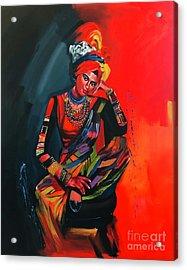Goddess Of Colors Acrylic Print