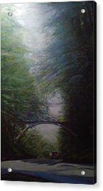 Going East Under The Forest Park Pedestrian Bridge Acrylic Print