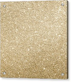 Acrylic Print featuring the photograph Gold Glitter by Top Wallpapers