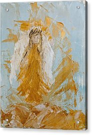 Golden Angel Acrylic Print