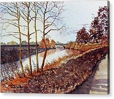 Golden Brown Acrylic Print