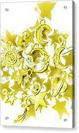 Golden Galaxy Acrylic Print