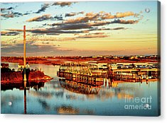 Golden Hour Bridge Acrylic Print