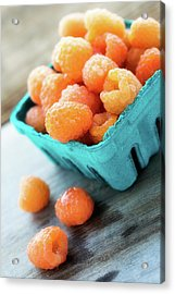 Golden Raspberries Acrylic Print