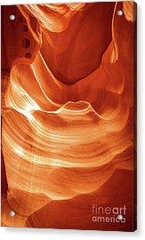 Golden Rock Swirls Acrylic Print by Bob Lentz