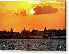 Golden Sky In Cancun Acrylic Print