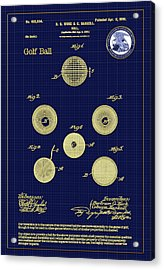Golf Ball Patent Drawing 1899 Acrylic Print