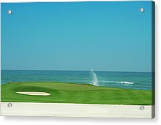 Golfers Paradise Acrylic Print by Caracterdesign