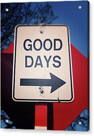 Good Days- Art By Linda Woods Acrylic Print