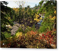 Acrylic Print featuring the photograph Gooseberry Falls From Above by Whitney Leigh Carlson