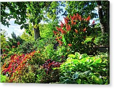 Acrylic Print featuring the photograph Gorgeous Gardens At Cornell University - Ithaca, New York by Lynn Bauer