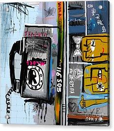 Graffiti With Telephone Acrylic Print